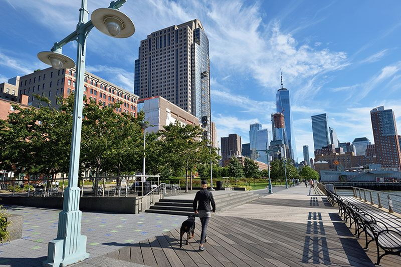 Manhattan running routes - Hudson River Park