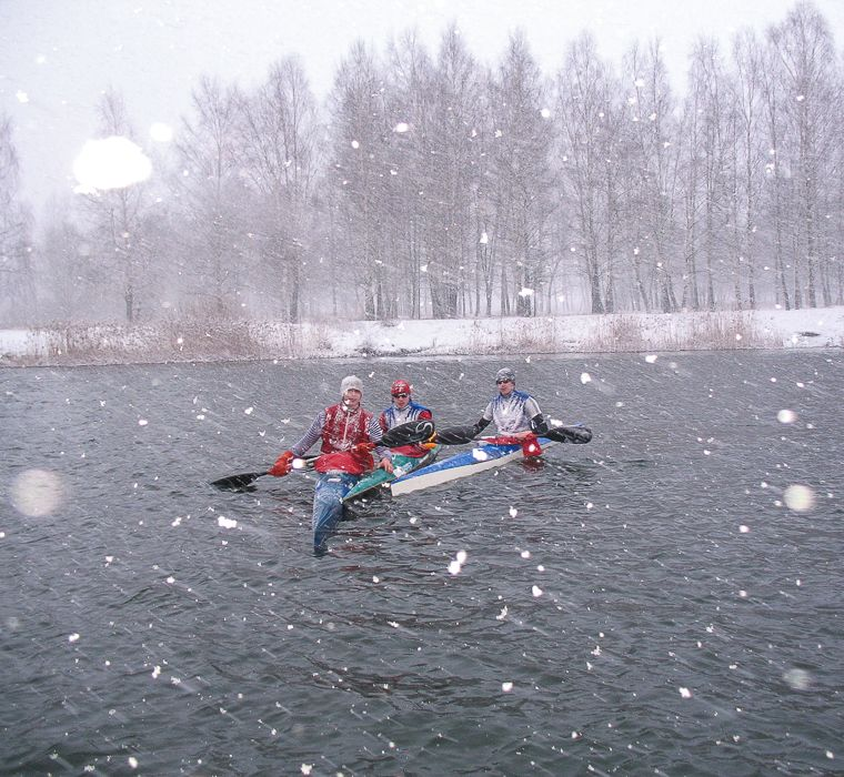 Kayaking in winter