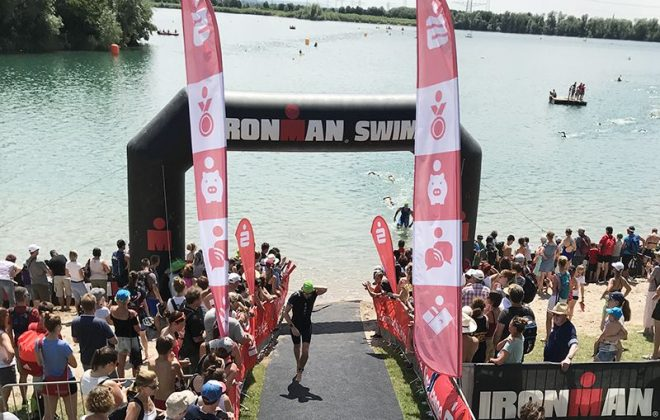 My first triathlon swim
