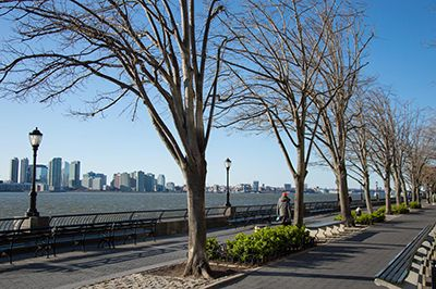 Manhattan running routes - Battery Park