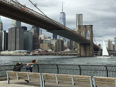 Manhattan running routes - Two Bridges