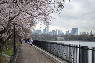 Manhattan running routes - Central Park