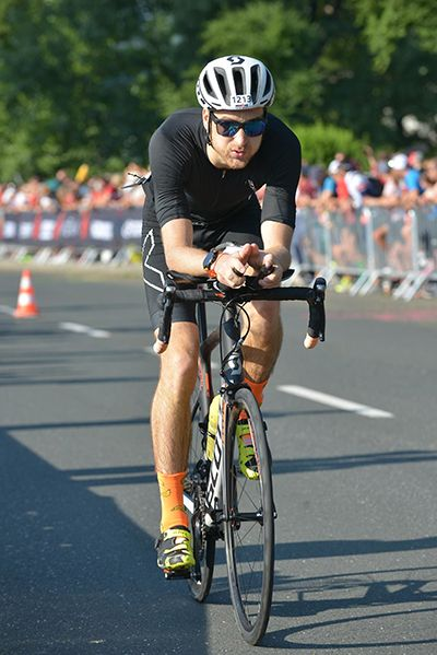 My first Ironman race bike start