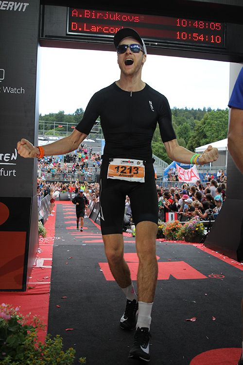 Finishing my first Ironman race