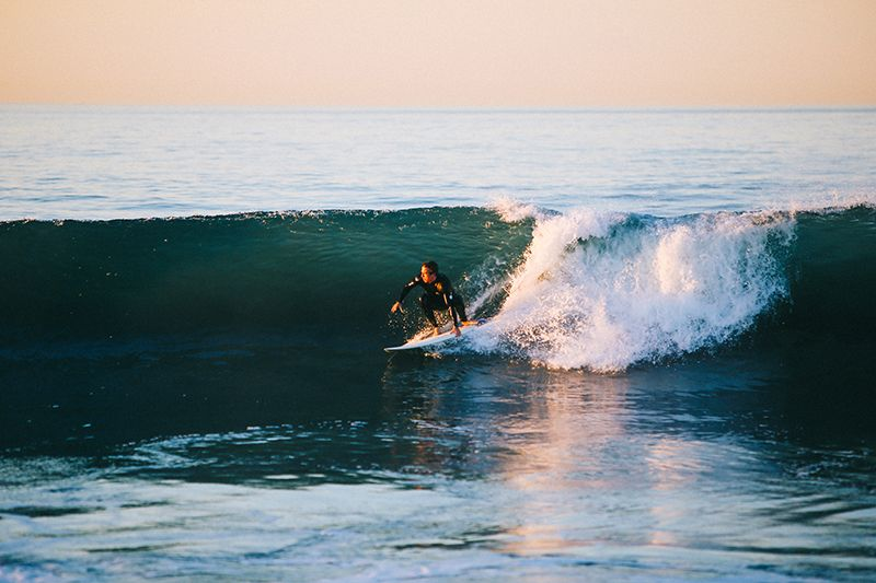 surfing requires more energy, so it's best to stock up on carbs