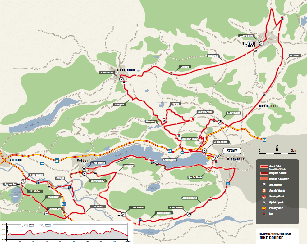 Ironman Austria bike course in 2019