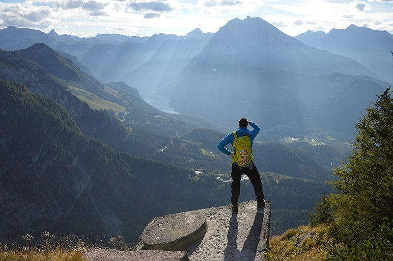 Hiking in Bavarian Alps and Konigsee