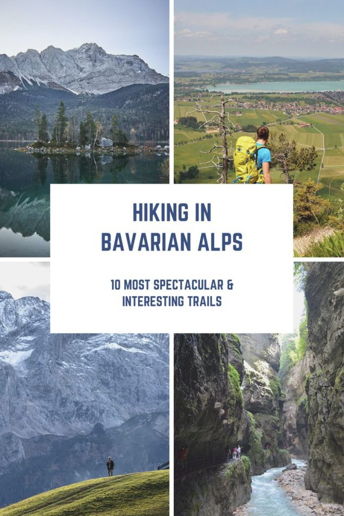 Hiking in Bavarian Alps pin