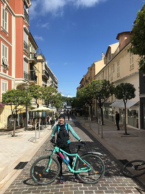 Cycling from Nice to Monaco finish