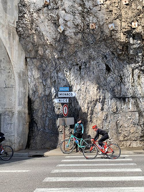 Cycling from Nice to Monaco is very popular