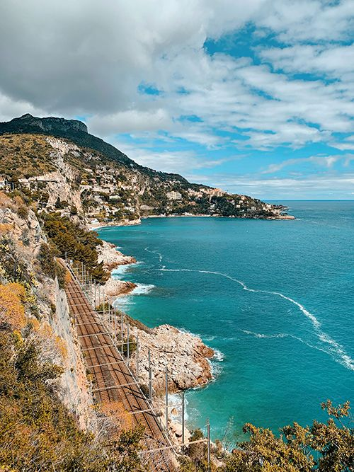 Cycling from Nice to Monaco views