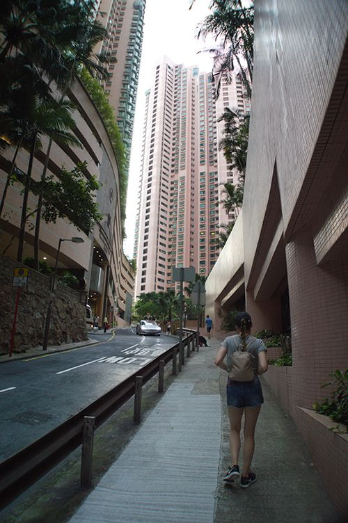 Hiking to Victoria Peak in Hong Kong