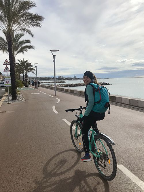 Start of Cycling from Nice to Monaco