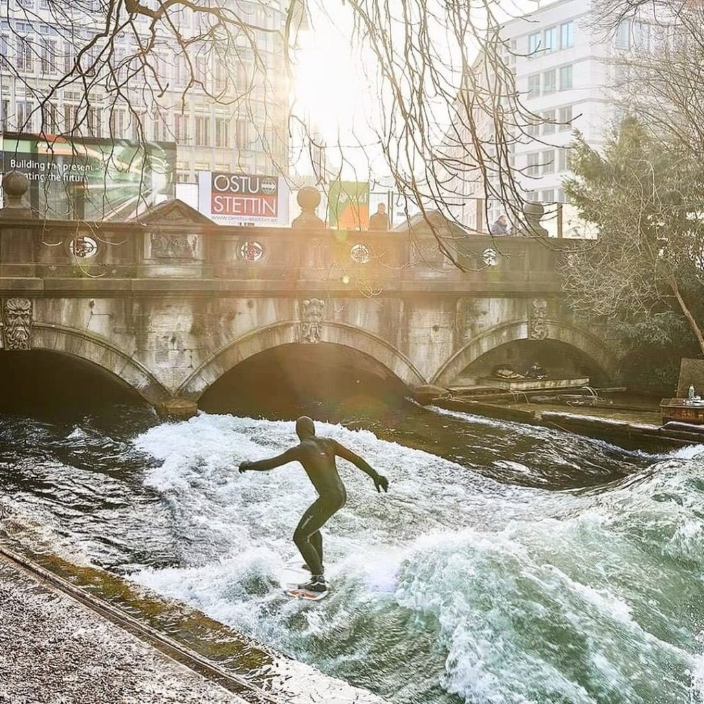 Surfing is one of the active things to do in Bavaria