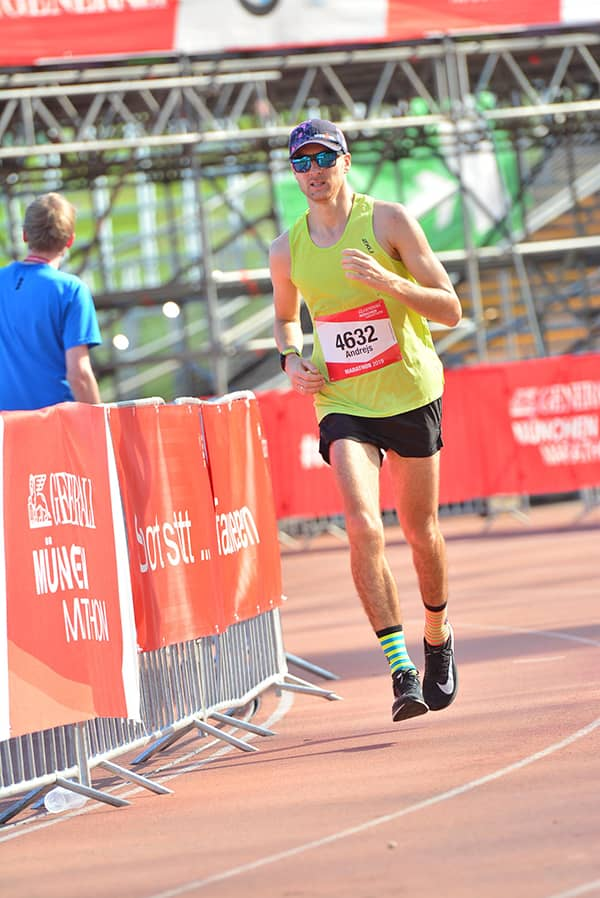 Finishing Munchen marathon