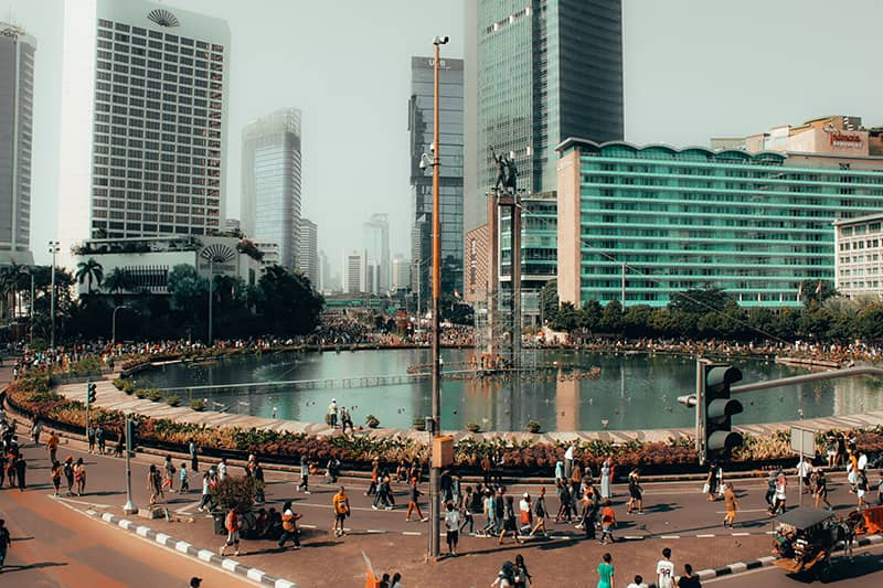 Welcome monument in Jakarta