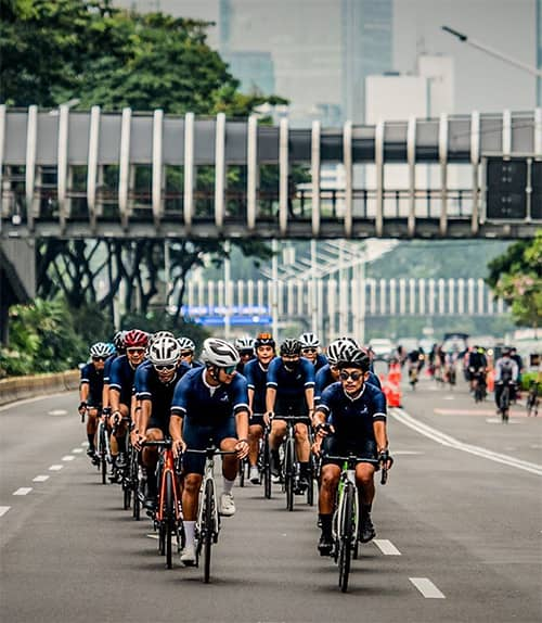 cycling during Jakarta car-free day