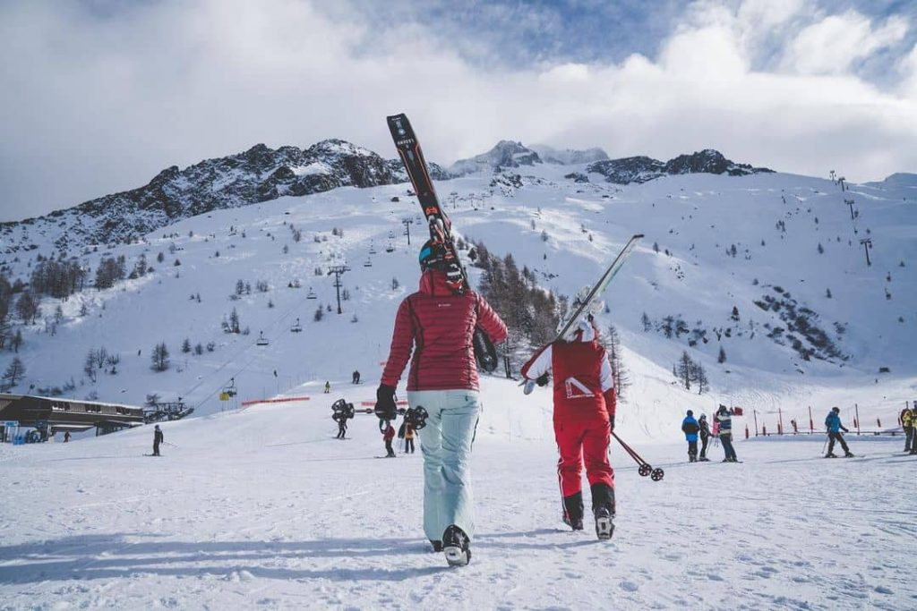 Skiing resorts in the Alps - Mont Blanc